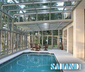 استخر با سقف شیشه ای