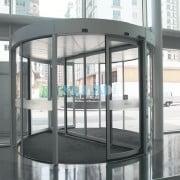 انواع درب اتوماتیک شیشه ای قوس دار